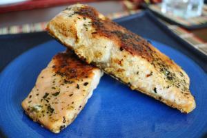 Salmon a a plancha