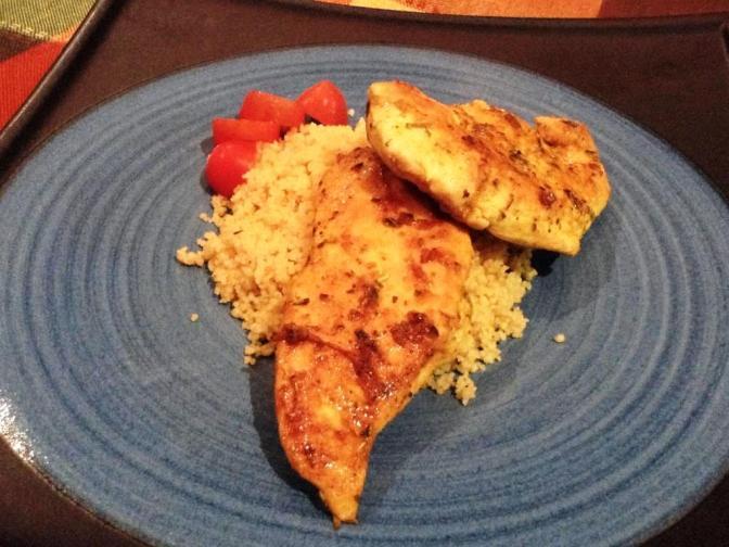 Pollo con Curcuma y Cuscus